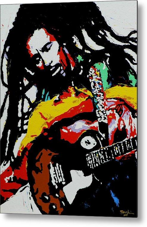 Reggae Metal Print featuring the painting Bob Marley by Eddie Lim