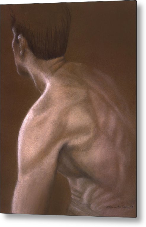 Man Metal Print featuring the painting Brown Iv by John Clum