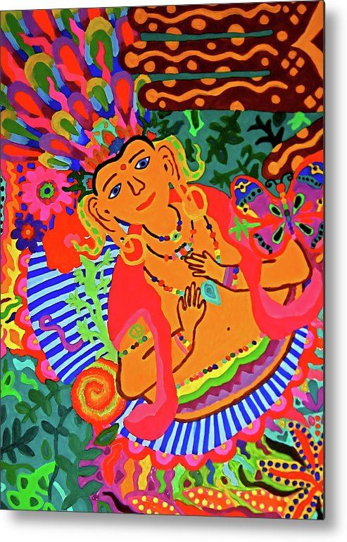 Budda Metal Print featuring the painting Buddah Love by Marina Hackett