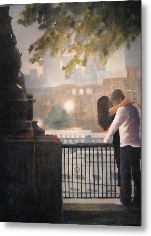 Lovers Metal Print featuring the painting Call Me by Victoria Heryet