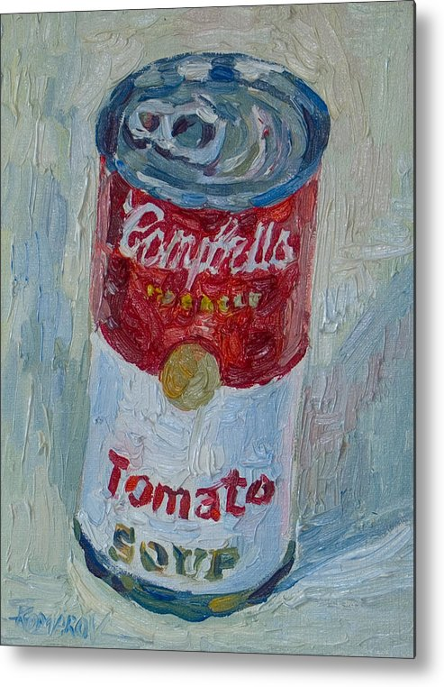Campbell's Soup Metal Print featuring the painting Campbell's Soup by Vitali Komarov