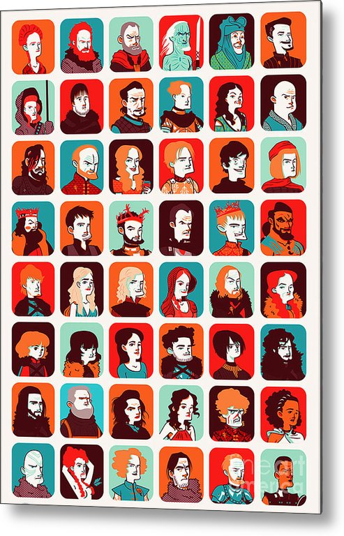 Pop Art Metal Print featuring the digital art Celebrities by Lupita Mastara
