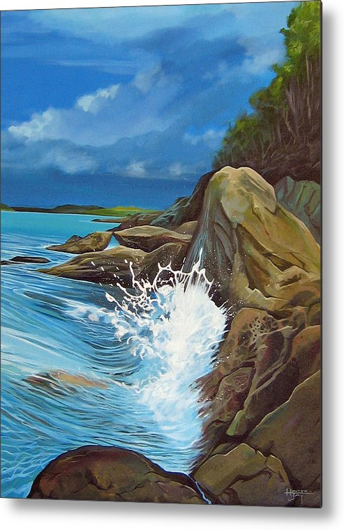 Ocean Metal Print featuring the painting Cerulean by Hunter Jay