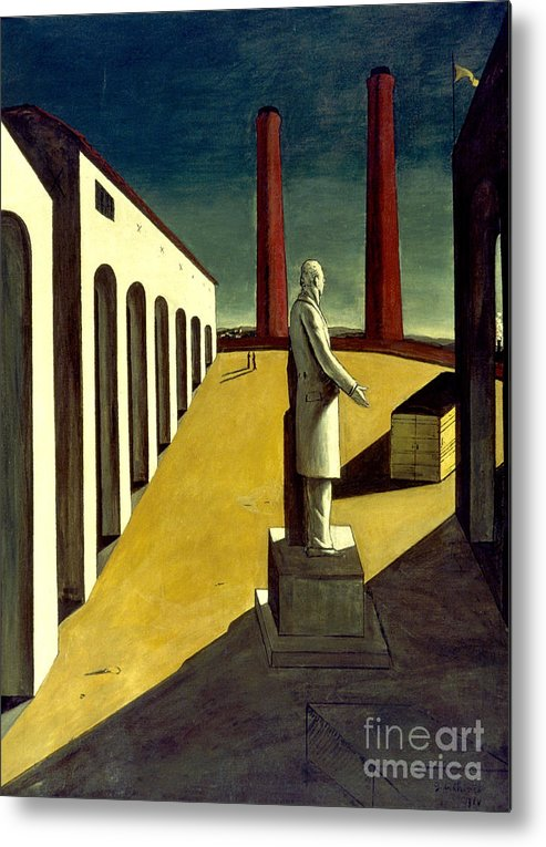 1914 Metal Print featuring the photograph Chirico: Enigma, 1914 by Granger