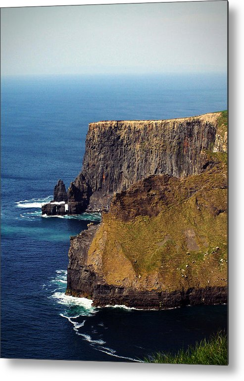 Irish Metal Print featuring the photograph Cliffs Of Moher Ireland View Of Aill Na Searrach by Teresa Mucha
