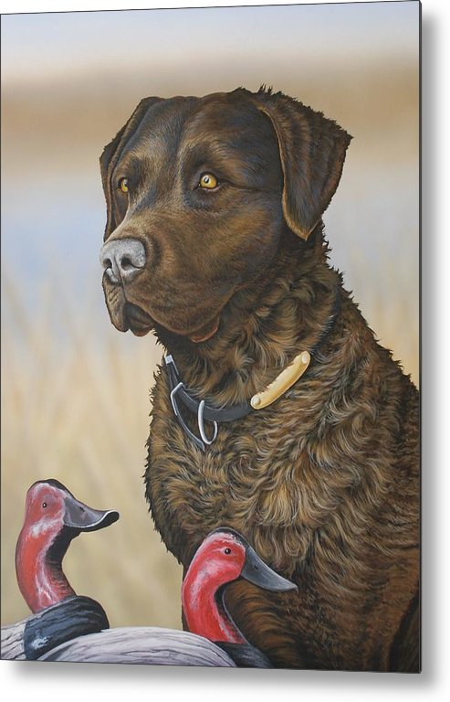 Chessie Metal Print featuring the painting Copper by Anthony J Padgett