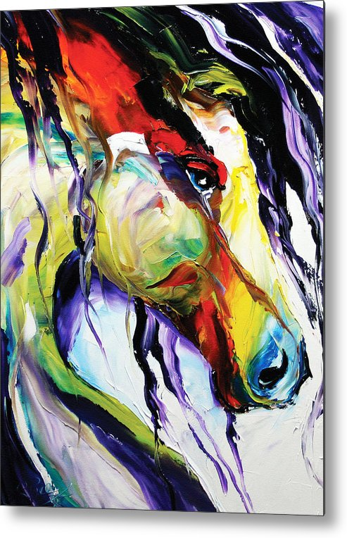 Horse Paintings Metal Print featuring the painting Deep Memories by Laurie Pace