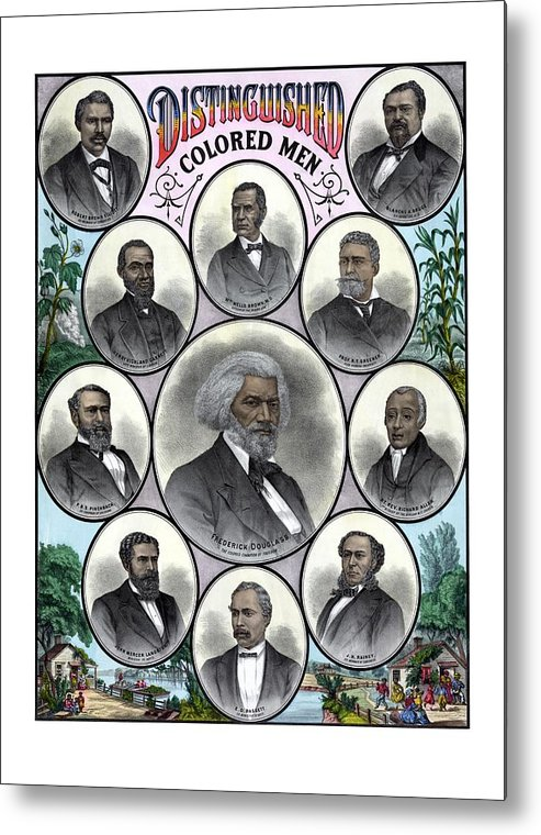 Black History Metal Print featuring the painting Distinguished Colored Men by War Is Hell Store