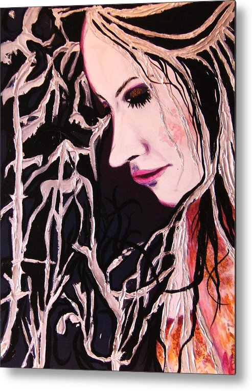 Diva Metal Print featuring the painting Diva Sarah by Meshal Hardie