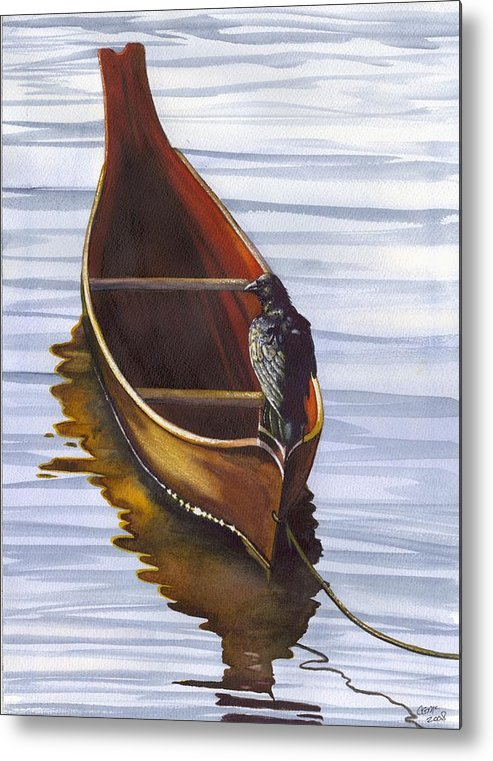 Dugout Metal Print featuring the painting Dugout by Catherine G McElroy