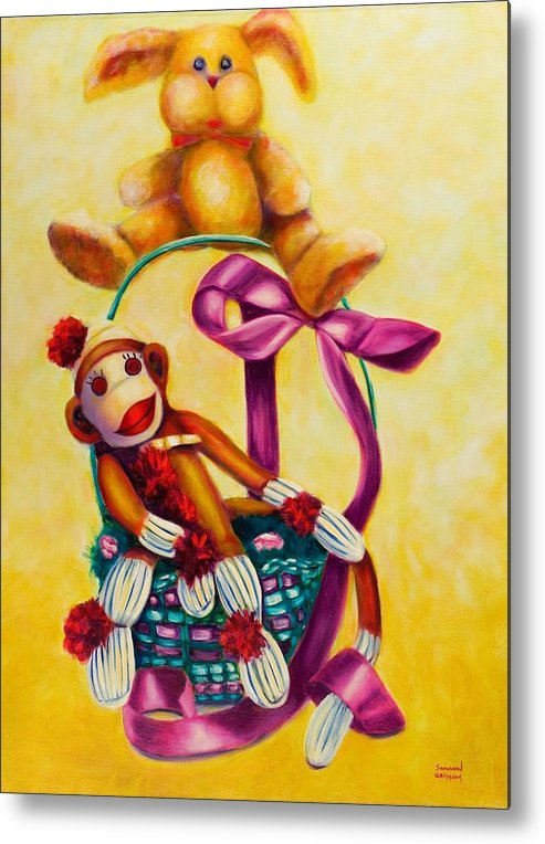 Easter Metal Print featuring the painting Easter Made Of Sockies by Shannon Grissom