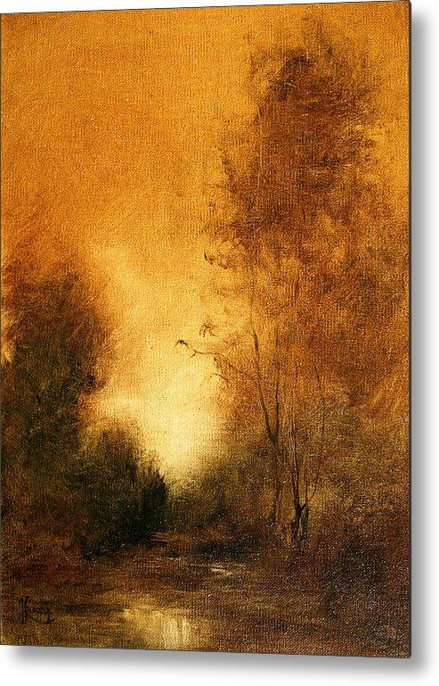 Landscape Metal Print featuring the painting Essemce by JoAnne Lussier
