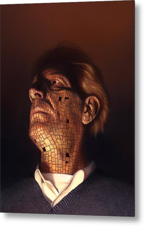 Philip Straub Metal Print featuring the painting Faceplate by Philip Straub