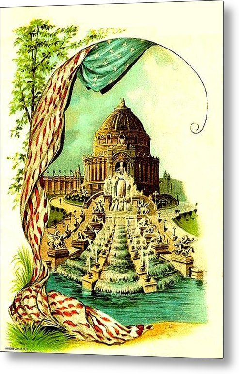 Expositions Metal Print featuring the mixed media Festival Hall, St. Louis World's Fair, 1904 by Dwight GOSS