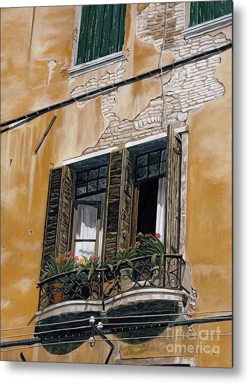 Florance Metal Print featuring the painting Florence Balcony by Jiji Lee