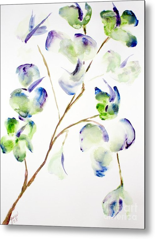 Flower Metal Print featuring the painting Flower by Shelley Jones