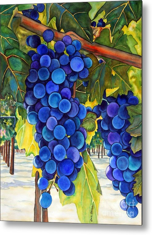 Grapes Metal Print featuring the painting From The Vineyard by Gail Zavala