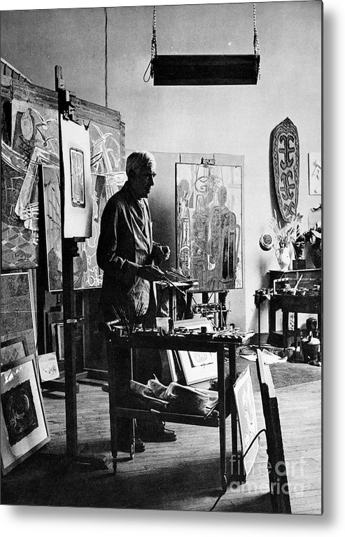 20th Century Metal Print featuring the photograph Georges Braque (1882-1963) by Granger