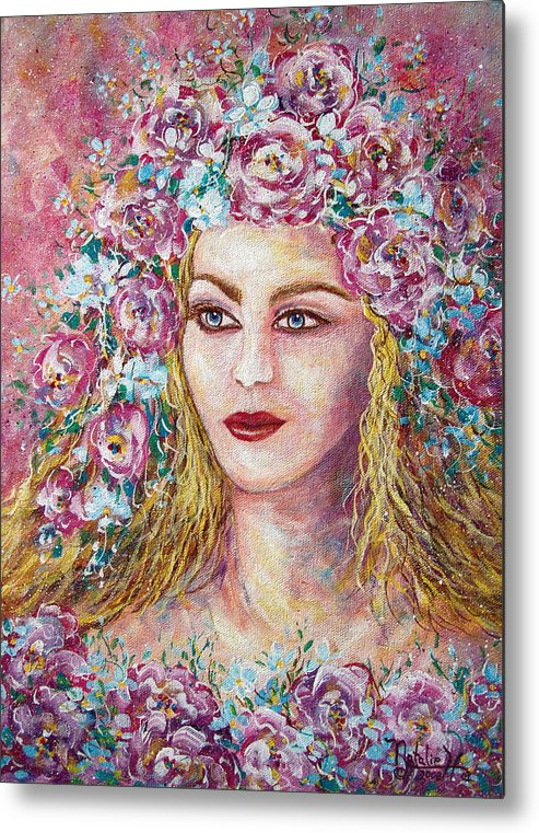 Goddess Of Good Fortune Metal Print featuring the painting Goddess Of Good Fortune by Natalie Holland