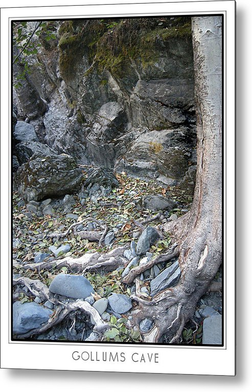 Trees Metal Print featuring the photograph Gollum's Cave by Karen W Meyer