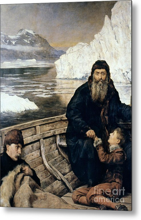 1611 Metal Print featuring the painting Henry Hudson And Son by Granger