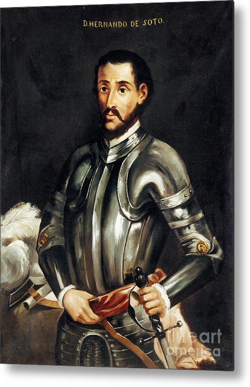 16th Century Metal Print featuring the painting Hernando De Soto by Granger