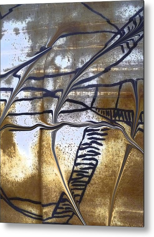 Abstract Metal Print featuring the photograph Hiding Out by Florene Welebny