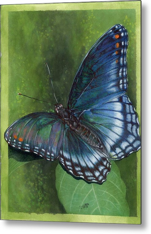 Insects Metal Print featuring the mixed media Jewel Tones by Barbara Keith