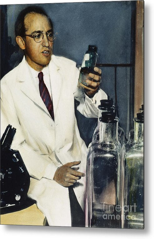 1950s Metal Print featuring the photograph Jonas Salk (1914-1995) by Granger