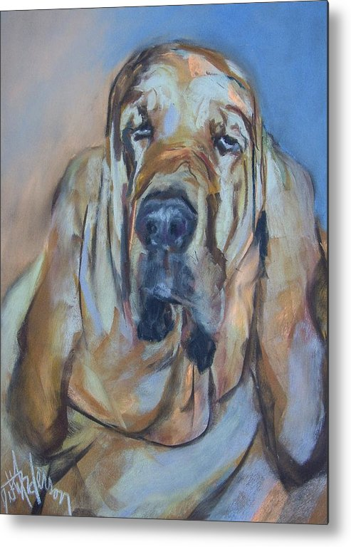 Dog Metal Print featuring the painting Just Another Magic Bloodhound by Debbie Anderson