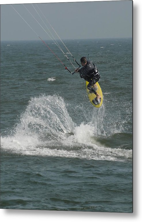 Kite Surfing Metal Print featuring the photograph Kite Surfing 20 by Joyce StJames