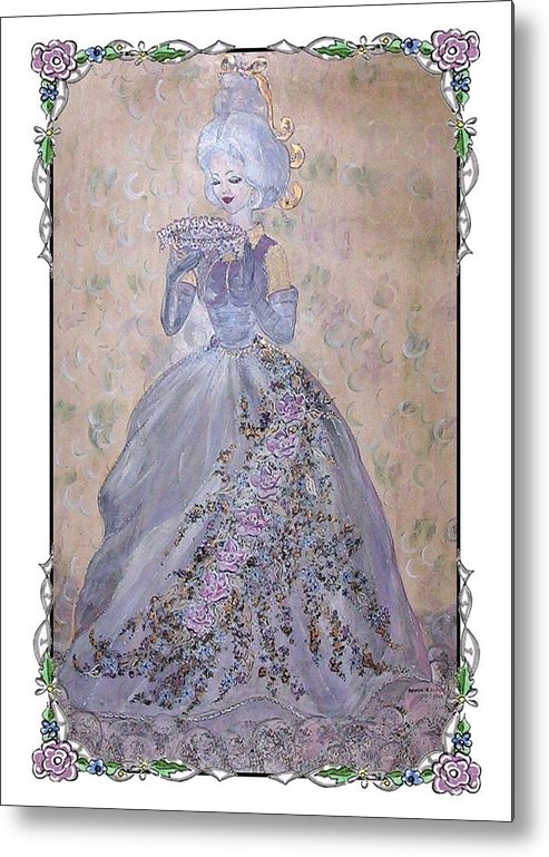 Still Life Metal Print featuring the painting Lavender Lady by Phyllis Mae Richardson Fisher