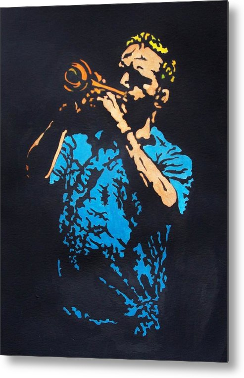 Jazz Metal Print featuring the painting Little Boy Blues by Shane Hurd
