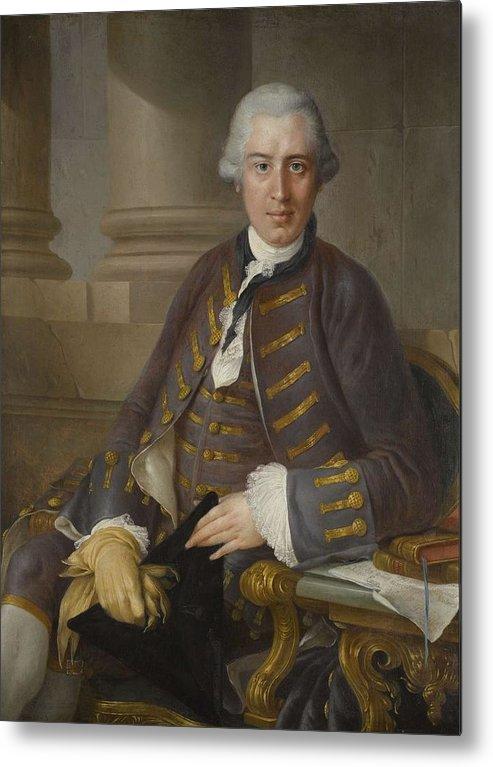 Man Metal Print featuring the painting Louis-gabriel Blanchet Paris 1705 - 1772  Portrait Of A Gentleman by Louis-Gabriel Blanchet