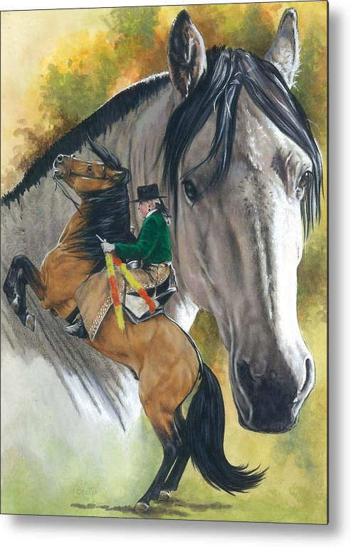 Horses Metal Print featuring the mixed media Lusitano by Barbara Keith