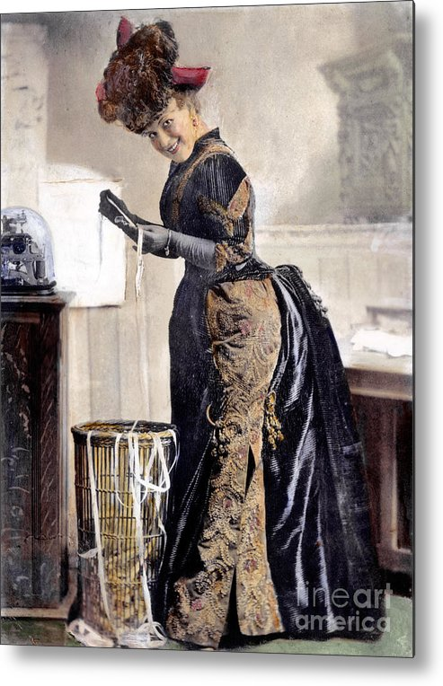 1890 Metal Print featuring the photograph May Waldron by Granger