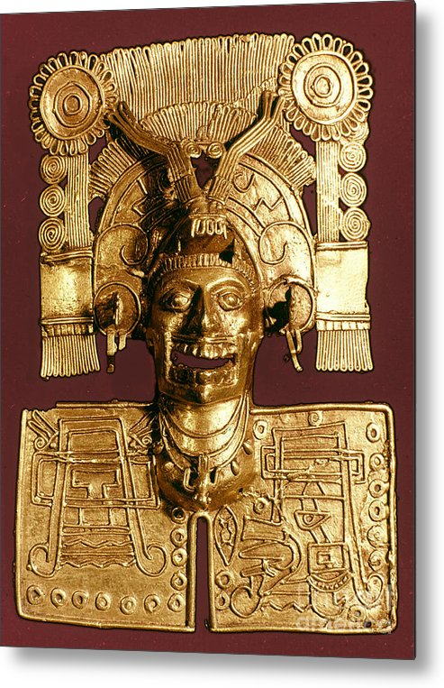 1400 Metal Print featuring the photograph Mixtec: God Of The Dead by Granger