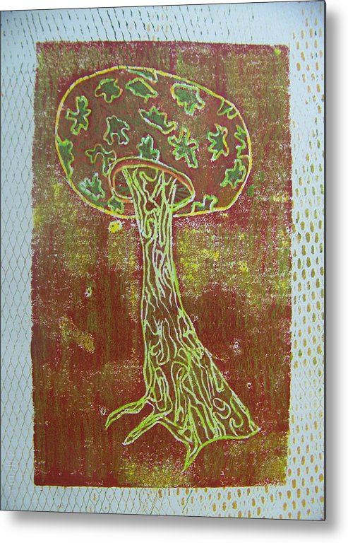 Organic Metal Print featuring the painting Myxomycetes 3 by Angela Dickerson