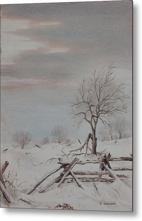 Rail Fence Metal Print featuring the painting Old Friends by Debbie Homewood