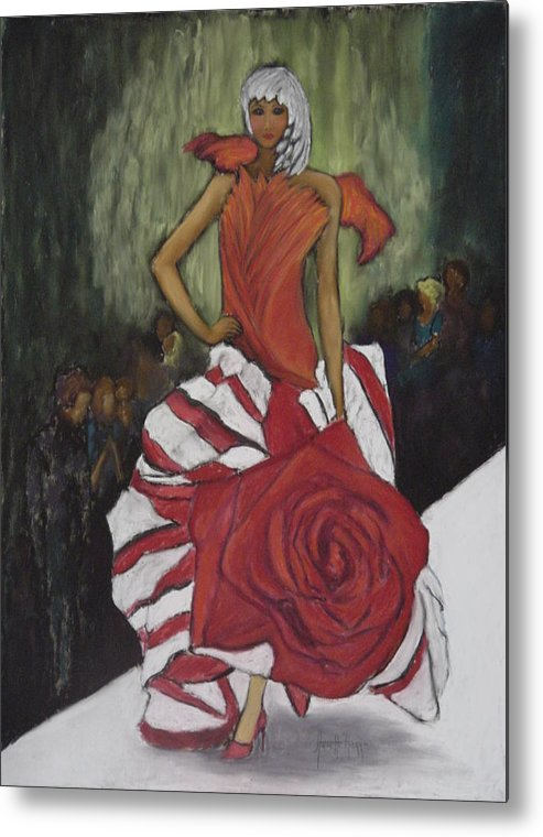 Fashion Show Metal Print featuring the painting On The Runway by Annette Kagy
