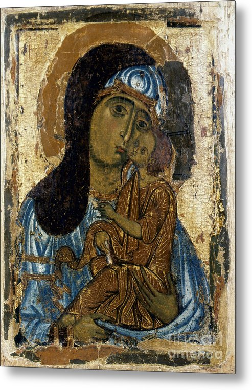 12th Century Metal Print featuring the photograph Our Lady Of Tenderness by Granger