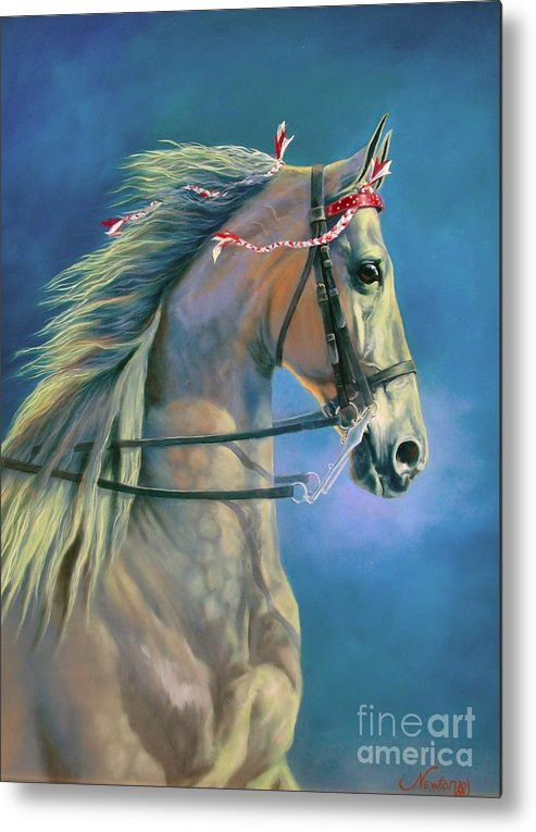 Horse Metal Print featuring the painting Paranormal by Jeanne Newton Schoborg