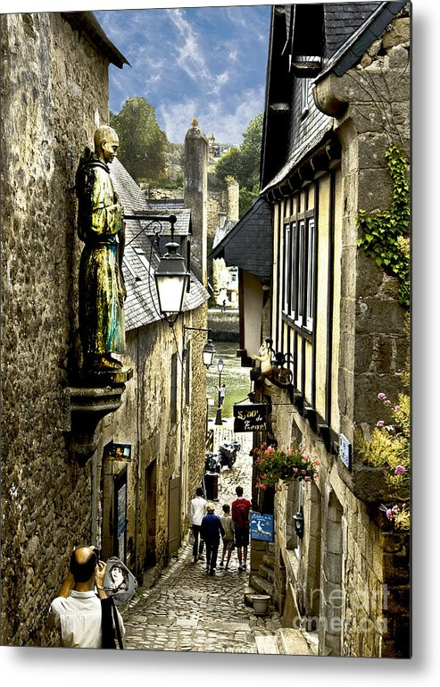 Architecture Metal Print featuring the photograph Passage To The Port Of St Goustan by Mark Hendrickson