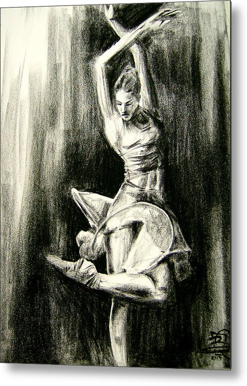 Dancer Metal Print featuring the drawing Passion by Brandon Coley