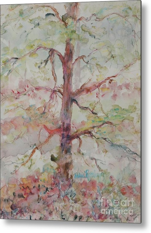 Forest Metal Print featuring the painting Pastel Forest by Nadine Rippelmeyer