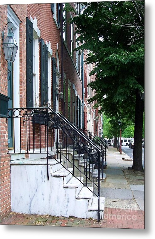 Architecture Metal Print featuring the photograph Philadelphia Neighborhood by Debbi Granruth