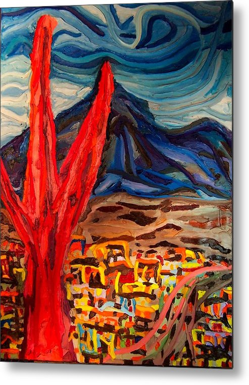 Metal Print featuring the painting Phoenix Rising by Ira Stark
