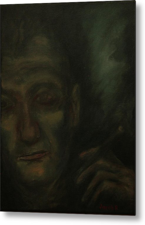 Portrait Metal Print featuring the painting Portrait S. B. by Jacob R