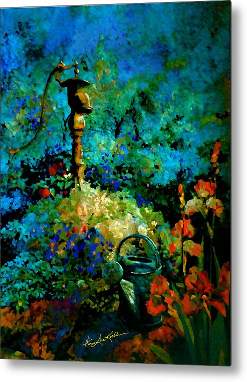 Water Pump Metal Print featuring the painting Primed For Service by Hanne Lore Koehler