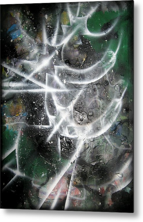 Modern Metal Print featuring the painting Rebirth4 by Leigh Odom